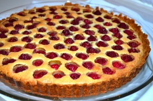 Brown Butter Raspberry Tart