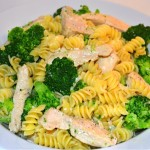 Chicken, Broccoli & Pasta in Garlic Cream Sauce