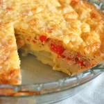 Potato-Crusted Quiche with Smoked Cheddar and Canadian Bacon