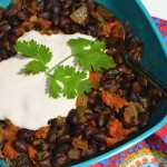 Spicy Black Beans w/Chorizo & Chipotle Cream