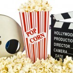 movie clapper popcorn