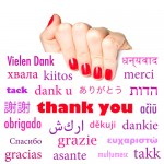 Saying Thank You … Globally