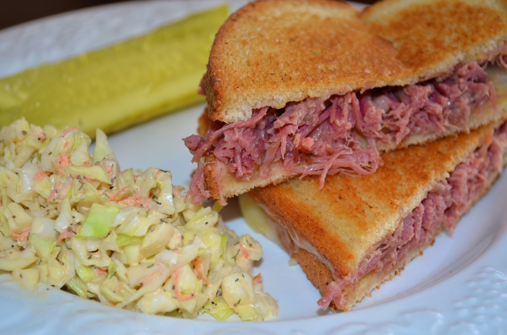 Grilled Corned Beef And Fontina Sandwiches Recipe — Dishmaps