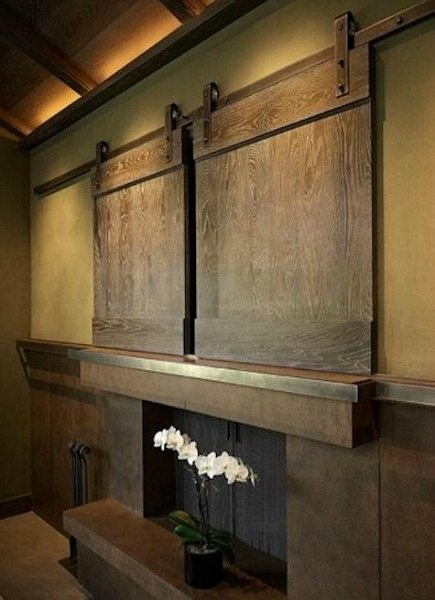 ... Decorating Wall Mounted Tv Cabinet With Doors : 17 Best Images About  Hiding Flat Screen TVs ...