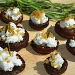 Stuffed Mushrooms w/Goat Cheese and Rosemary Breadcrumbs