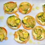 Mini Zucchini & Goat Cheese Tarts