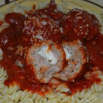 Pasta w/Stuffed Meatballs