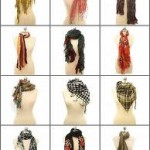 How many ways can you tie a scarf?