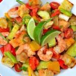 Grilled Gazpacho Salad w/Shrimp