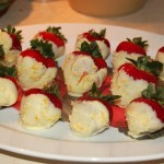 White-Chocolate-Dipped Strawberries w/Citrus Sugar