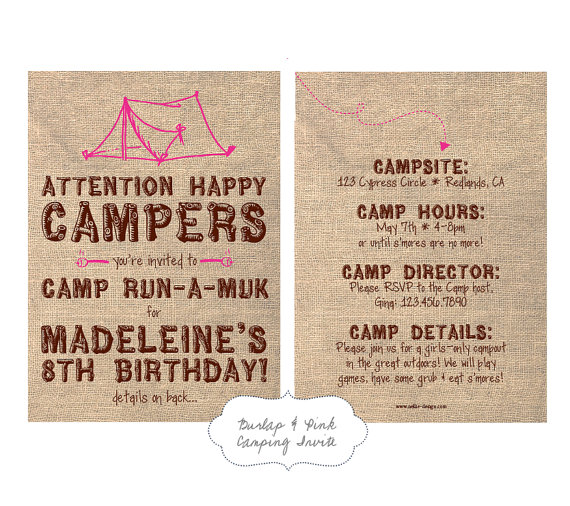 Backyard Camping Birthday Party