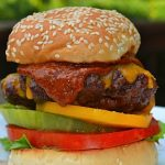 Beef Burgers w/Peanut-Chipotle BBQ Sauce
