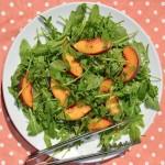 Arugula & Peach Salad w/Creamy Chive Vinaigrette