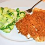 Baked Flounder w/Mushrooms & Wine