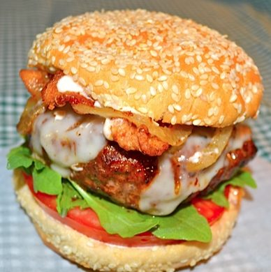 Sloppy-Sriracha Burger