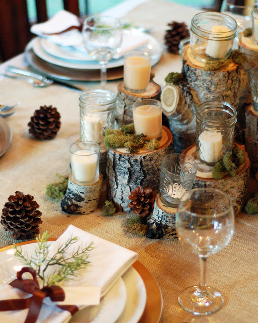 Rustic Natural Thanksgiving Table & Rustic Natural Thanksgiving Table | Tips From Town