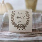 Share With your Guests What You are Thankful For