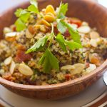 Bacon Quinoa with Almonds & Herbs
