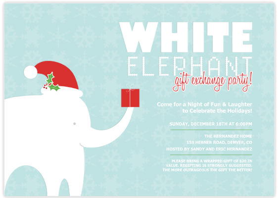 White Elephant Party | Tips From Town