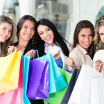 women shopping, sample sale