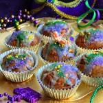 Instant Mardi Gras: Mini King Cupcakes