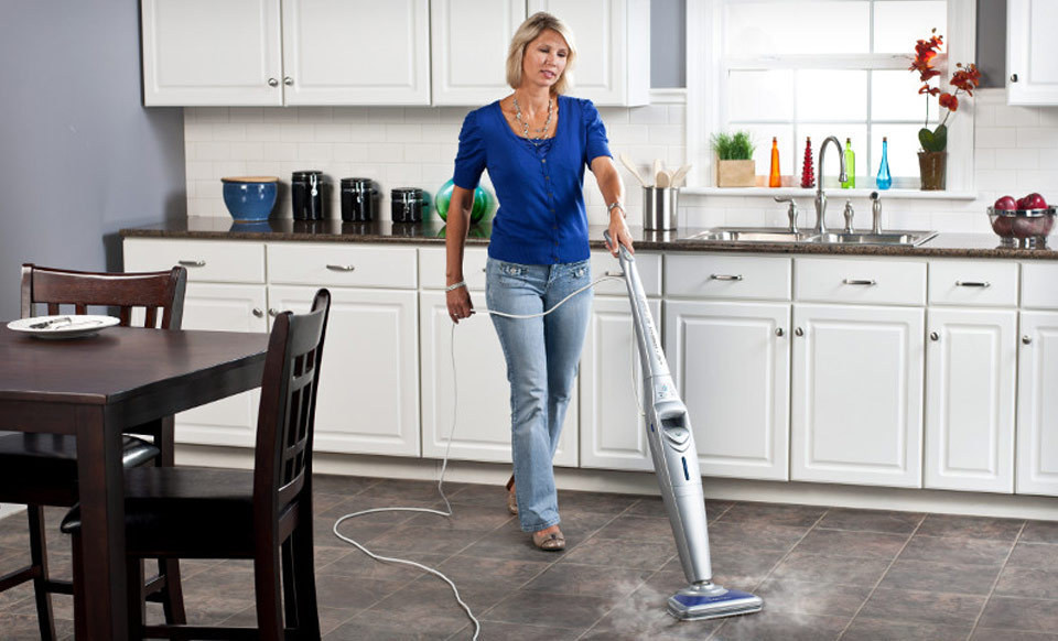 tips from town - » a clean kitchen floor, steam moptips from town