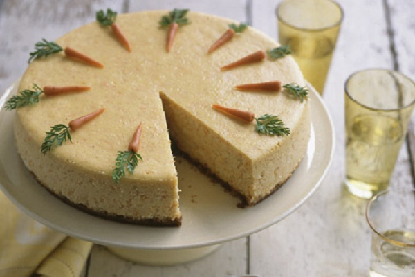 Carrot cheesecake tips from town cheesecake carrot cake easter dessert marthastewart negle Images