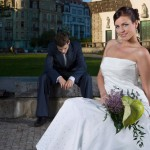 unhappy groom, miserable groom, bride, marriage, wedding
