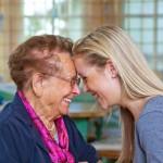 grandmother, older woman, laughing, talking