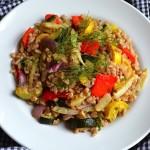 Italian Farro Salad w/Roasted Veggies