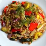 Italian Farro Salad w/Roasted Veggies
