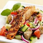 Salmon Panzanella Salad
