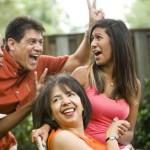 family, laughing, having fun