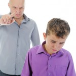 mean, strict, parent, sad child