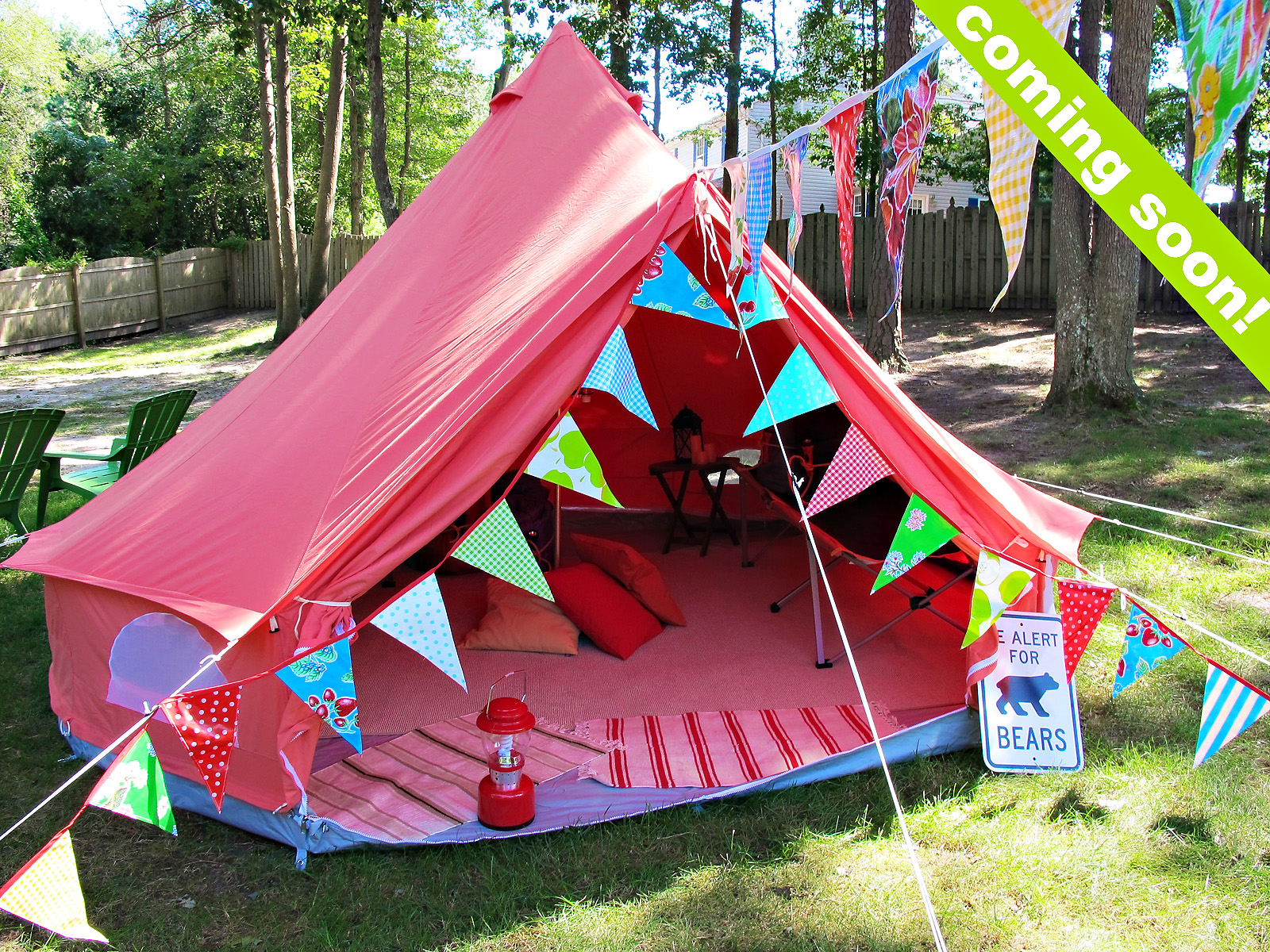 Tips From Town - » Backyard Camping Birthday Party ...