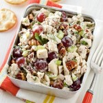 chicken salad, grapes, poppy seed, pecans