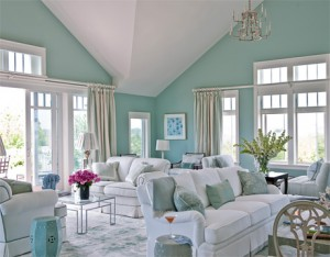 watery paint colorAqua and White Summer Home Accents  Tips From Town