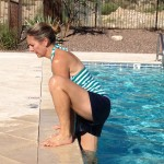 move of the week, exercise, cardio, drill, legs, glutes, arms, chest, core, back, aquatic burpee, pool exercise, calories, tips from town