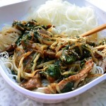 stir-fry, beef, bean sprouts, spinach, ginger, Asian stir-fry