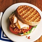 chicken sandwich, sandwiches, waffles, waffle, BLT and chicken sandwich