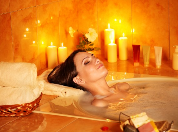 Prevention, in-home spa, in-home escape, bath soaks, steams, facials, masks, scrubs, foot and hand care, homemade, relaxation, stress relief, tips from town