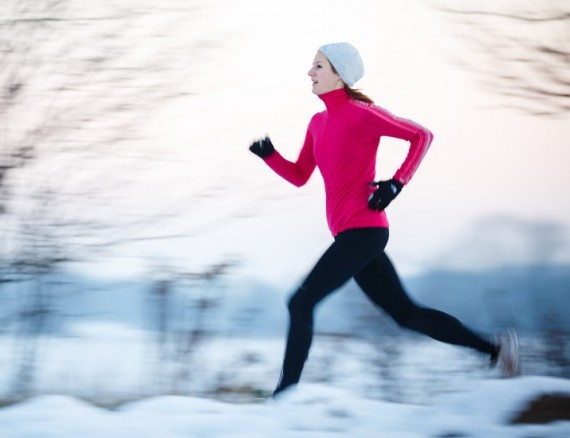 Exercise, fitness, working out, tips for cold weather exercise, clothing, gear, winter, layers, safety, tips from town