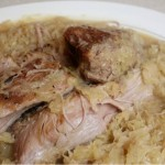 New Year's Day Pork & Sauerkraut (slow-cooked)