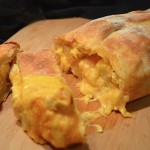 cheesy buffalo chicken calzone