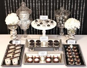 black and white desserts