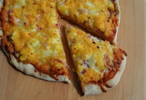 BBQ Ham & Pineapple Pizza