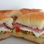 Artichoke, Fresh Mozzarella, & Salami Sandwiches