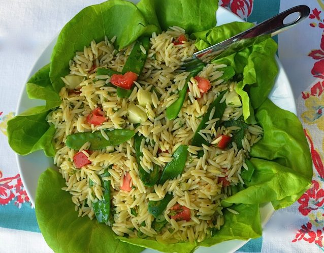 Orzo Salad w:Vegetables & Herbs