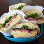 Roast Beef Sandwiches w/Lemon-Basil Mayo & Roasted Red Onions