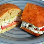 Roasted Chicken, Zucchini & Ricotta Sandwiches
